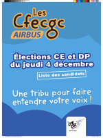 Liste des candidats - CFE-CGC Airbus France
