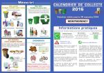 le calendrier de la collecte des encombrants 2016 et