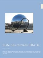 Liste des oeuvres HDA 3 e pour la session de juin 2014