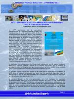 RAPPORTS POUR LE BULLETIN – SEPTEMBRE 2014