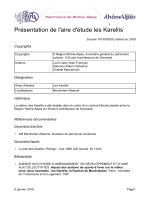 Présentation de l`aire d`étude les Karellis