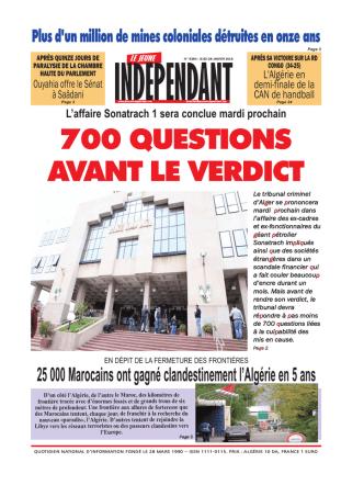 700 QUESTIONS AVANT LE VERDICT