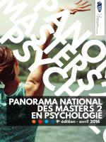 Panorama des Masters 2 de psychologie (2016)