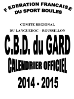 Calendrier 2014-2015 - CBD du Gard - Pagesperso
