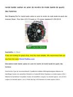ronde bande cadran en acier de montre de mode bande de quartz