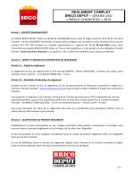 Règlement du jeu - Brico Chanceux