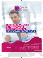 Guide des acteurs du financement