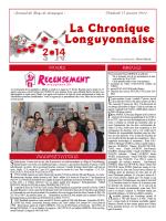 La Chronique Longuyonnaise - Site Officiel de la Mairie de Longuyon