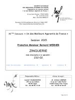 sujet zinguerie MAF 2015. - Meilleurs Ouvriers de France