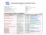 Administration: publique et parapublique - Municipalité de Port