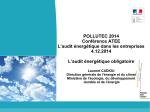 Intervention de Laurent CADIOU, DGEC, MEDDE
