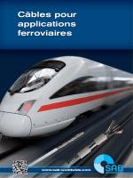 câbles pour applications ferroviaires