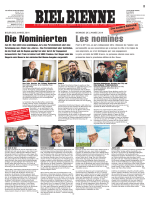 Persönlichkeiten aus der Region Biel-Seeland- Berner