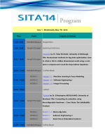 Day 1 : Wednesday May 7th, 2014 Time Room Program
