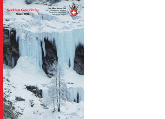 bulletin mars 2016 - Club alpin suisse de Genève