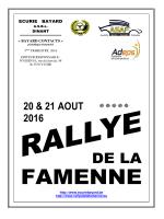 RALLYE DE LA FAMENNE 2016