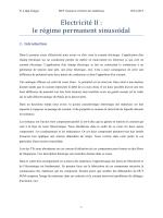 Electricite II : le re gime permanent sinusoï dal - Nathalie Lidgi