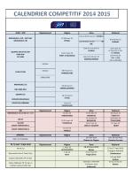 Calendrier général compétitions 2014-2015