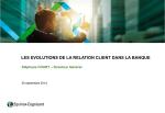 les evolutions de la relation client dans la banque