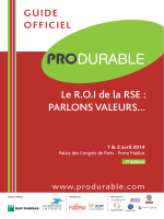 Guide Officiel PRODURABLE 2014