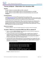 Travaux pratiques – Observation de la résolution DNS