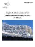 Savoie, annuaire de la DSDEN 2014-2015