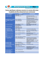 Postes spécifiques nationaux vacants à la rentrée 2015 dans l