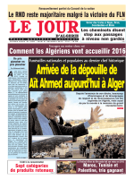 Jeudi 31 12 15 - Le Jour d`Algérie
