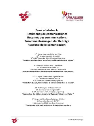 Book of abstracts Resúmenes de comunicaciones Résumés