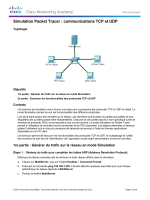 Simulation Packet Tracer : communications TCP et UDP