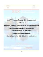 Programme des XXXèmes journées de Développement