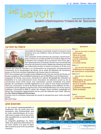 Bulletin d`Informations Trimestriel de Roscanvel