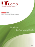 Catalogue des formations Oracle