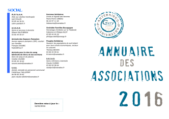 Annuaire des associations givrotines 2016