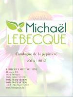 Catalogue de la pépinière 2014 / 2015