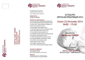 22 Novembre 2014 - Hôpital Saint Joseph