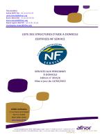 Liste des structures certifiées NF 311