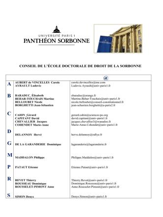@ A B C D G M P R S - Université Paris 1 Panthéon