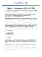Explorer les nouveaux sites Web de la FCFDU