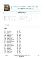 CHAMPIONNAT DE BELGIQUE CAD/SCOL F ET G