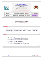 CORRECTION TRONÇONNEUSE AUTOMATIQUE