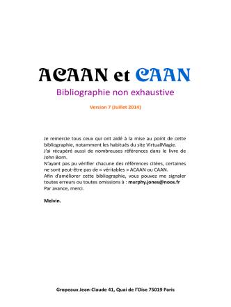 Biblio ACAAN V7 - Virtual Magie