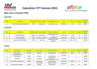 Calendrier VTT Somme 2015
