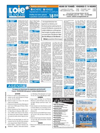 20 a logements - Journal l`oie Blanche