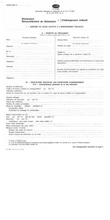 CERFA n° 61-2091 : Déclaration d`hébergement collectif