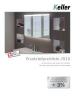 Ersatzteilpreisliste 2016 - Keller Spiegelschränke AG