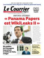 amar ghoul catégorique - Le Courrier d`Algérie