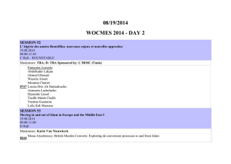 08/19/2014 wocmes 2014 - WOCMES 2014 :: World Congress for