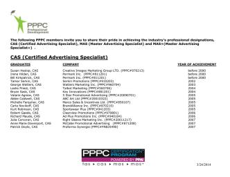 CAS (Certified Advertising Specialist)