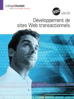 Développement de sites Web transactionnels